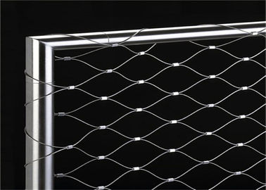 Flexible Ferruled Stainless Steel Wire Rope Mesh For Balustrade Railing