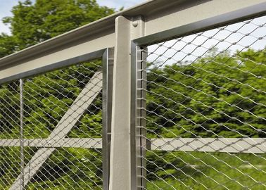 Stainless Steel Balustrade Wire Mesh For Infill Panels And Railings Application