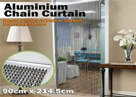 Durable Aluminum Insect Door Fly Screen Chain Curtain For House Decoration