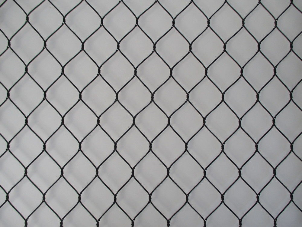SS316 Flexible Black Oxide Rope Mesh For Ape And Bird Aviary Nettings